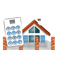 Security alarm for the house vector