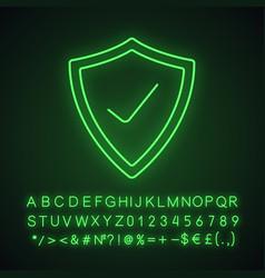security check neon light icon vector image
