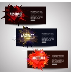 Set of banners with triangular shapes and place vector image