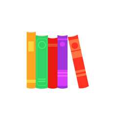 stack of closed paper books with colorful cover vector image