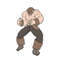 strong barbarian vector image vector image