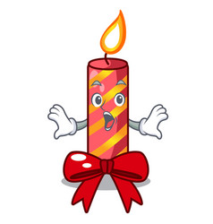 surprised christmas candle combined with pita vector image