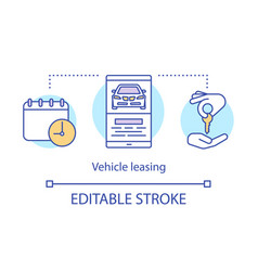 Vehicle leasing concept icon automobile hire vector