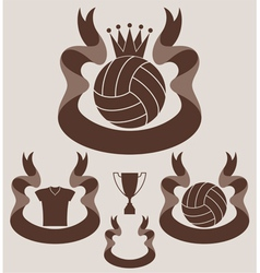 Volleybal l Vintage vector