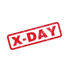 X-Day Rubber Stamp vector