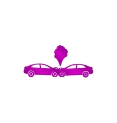 Car crash concept vector image