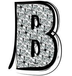 Diamond Font letter B vector image vector image