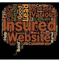 Insurance Leads how To Get Insurance Leads text vector image vector image
