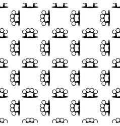 Metal Knuckles Seamless Pattern vector image