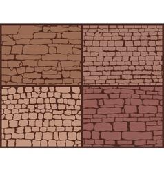 Stone masonry set vector image