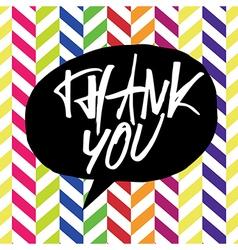thank you chevron colorful vector image
