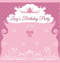 Vintage birthday invitation card template vector