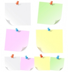 announcements on pieces of paper vector image