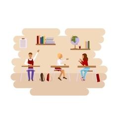 Concept of school class room vector image vector image