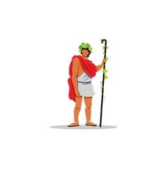 Dionysus sign The Mythological Greek god of wine vector image