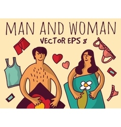 Love couple relations man and woman color vector image vector image
