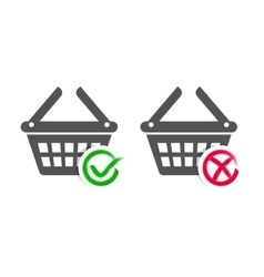 Shopping basket icons vector image vector image