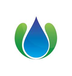 wave waterdrop logo image vector image vector image