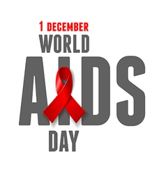 AIDS Awareness Day vector image
