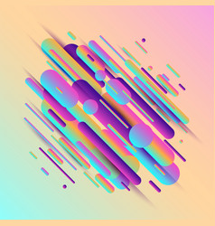 dynamic composition made of vector image