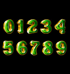gold numbers in 3d style vector image