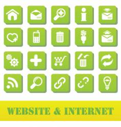 internet and website green plate vector image vector image