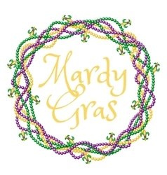 Mardy gras greetings vector image vector image