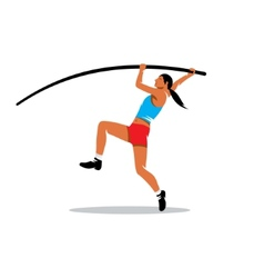 Pole vaulting sign vector image