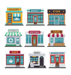 retail business urban shop store vector image