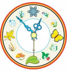 clock four season vector image