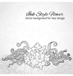 Doodle stylized flower Abstract background for vector image vector image