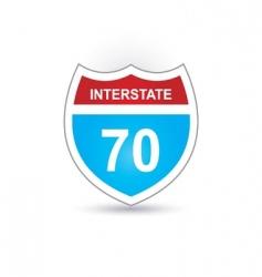 interstate 70 vector image