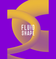 modern abstract cover with plastic shape vector image vector image