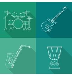 Music instrument design vector image