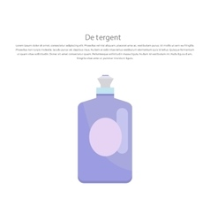 Plastic Bottle for Liquid Laundry Detergent vector image