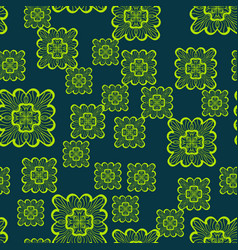 print seamless geometric pattern with green vector image