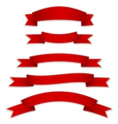 red ribbons flags vector image