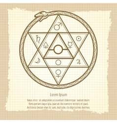 Vintage mystical astrological sign vector image