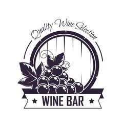 wine bar club house icon template for vector image