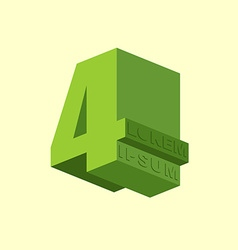 4 Number four Logo of figure four design template vector image