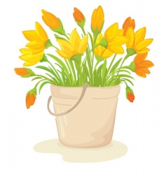 a bouquet of yellow flowers vector image vector image