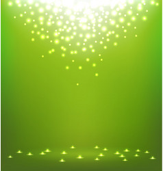 Abstract magic Light on green background vector image