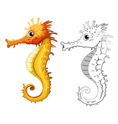 Animal outline for seahorse vector