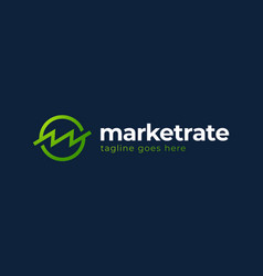 bank or finance organization letter m or w logo vector image