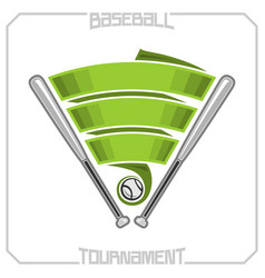 baseball club vector image