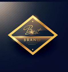 best brand golden label and badge design vector image