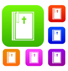 bible set color collection vector image