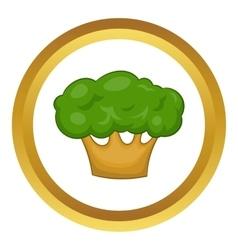 Big green tree icon vector image
