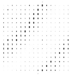 Binary computer code background vector