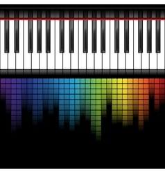 black piano template vector image
